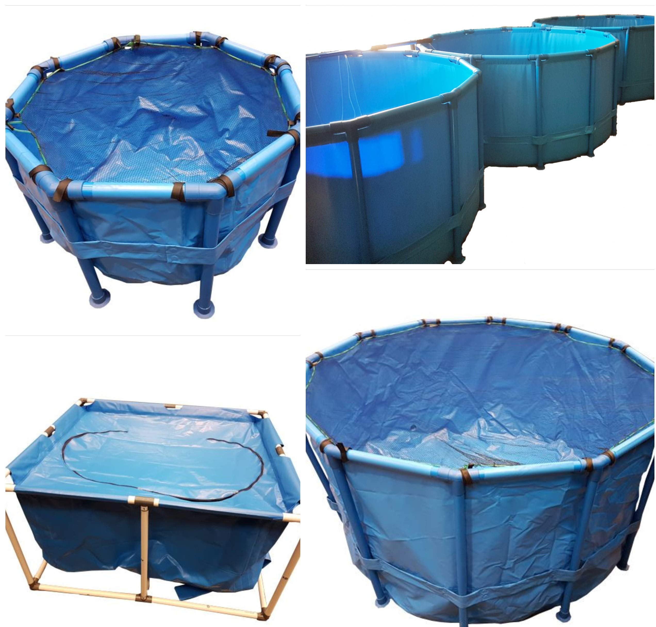Pond H2O Koi Fish Tank Vat, Rectangle 2.5 Foot x 2 Foot x 2 Foot (82 cm x 61 cm x 61 cm) with Zipper Top Cover