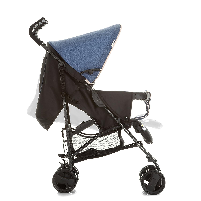 Hauck Sprint S manillar ergonomico melange charcoal ligera y compacta en plegado silla de paseo con posiciones de respaldo para recien nacidos apto hasta 15 kg gris