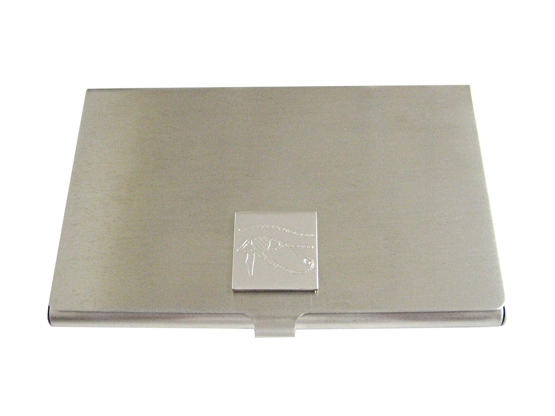 Silver Toned Etchedホルスの目ビジネスカードホルダー   B01JFD8GC6