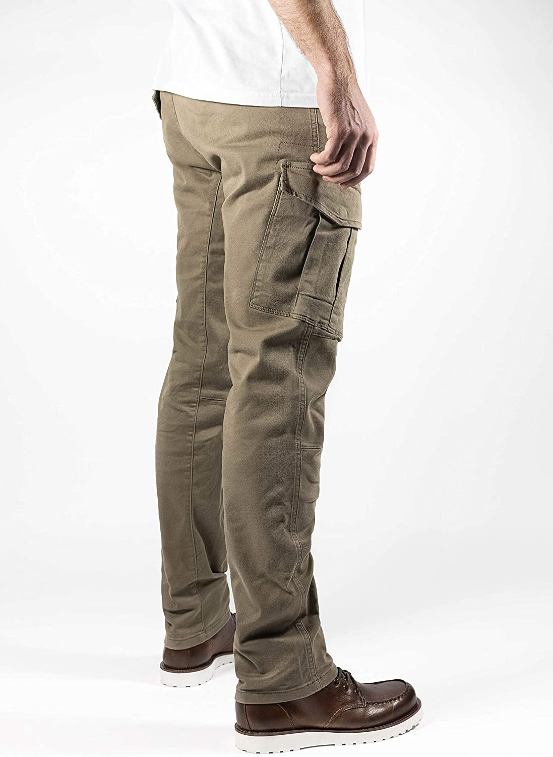 Beige 34 W//34 L John Doe Stroker Cargo XTM Motorcycle Trousers with Kevlar XTM Made with Dupont Kevlar Can be Inserted Protectors Breathable Motorcycle Cargo Trousers with Side Pockets