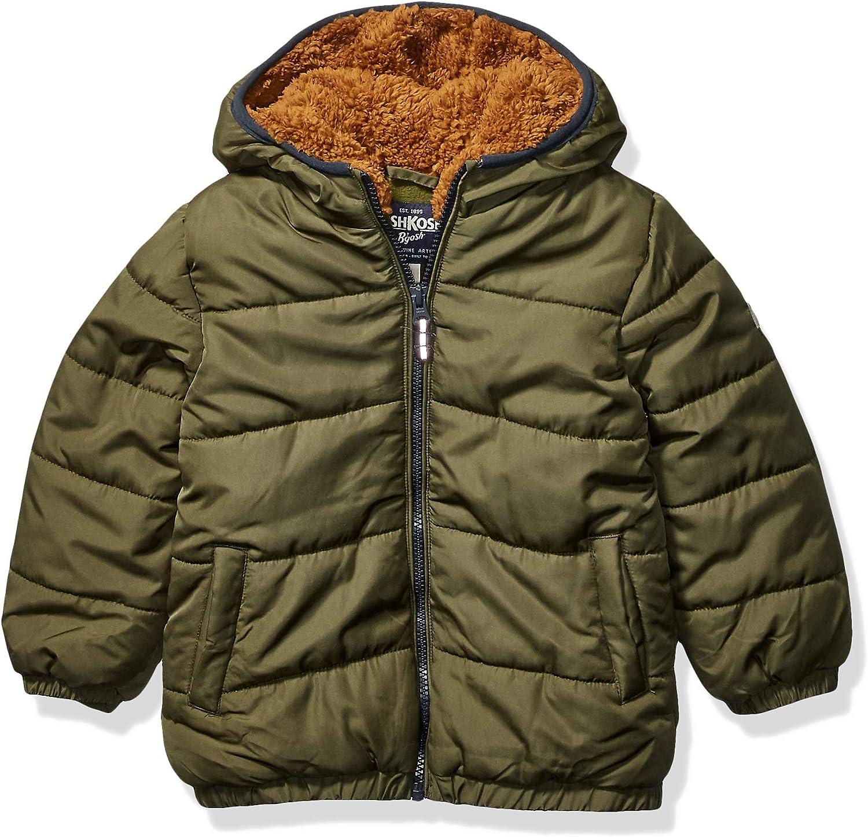 Royal Hunter Green Osh Kosh Boys Toddler Heavyweight Winter Jacket with Sherpa Lining 3T