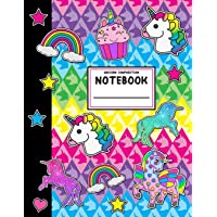 Unicorn Composition Notebook: Wide Ruled School Office Home Student Teacher 112 Pages - Unicorns Rainbows Cute Notebook (School Composition Notebooks)
