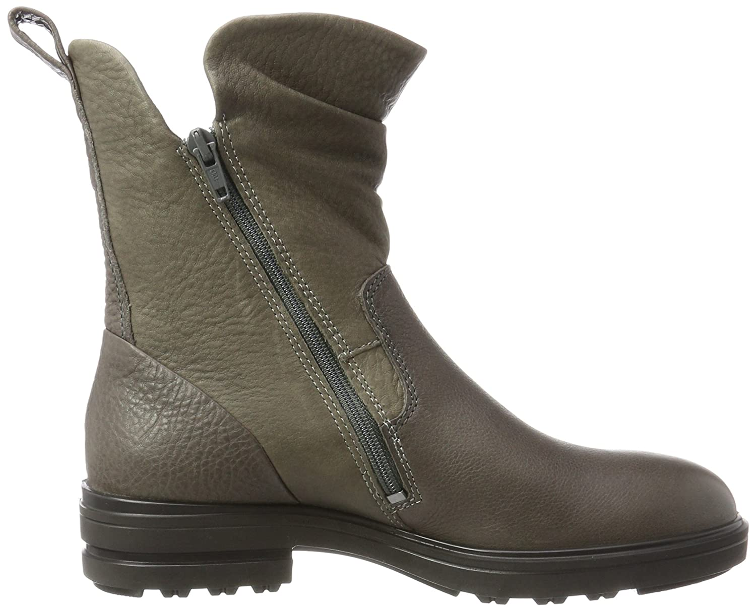 ECCO Women's Women's Zoe Mid Motorcycle Boot B01N7VT1T0 41 EU / 10-10.5 US|Steel/Warm Grey