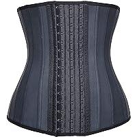 SHAPERX Kvinnor midjetränare latex träning korsett kroppsformare magkontroll cincher