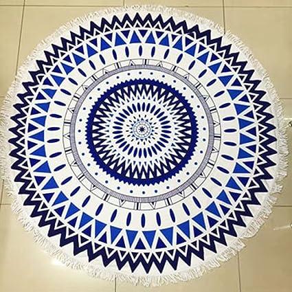 La moda de Sol Círculo Toalla de Playa Grande Impreso de microfibra toallas Yoga ,01