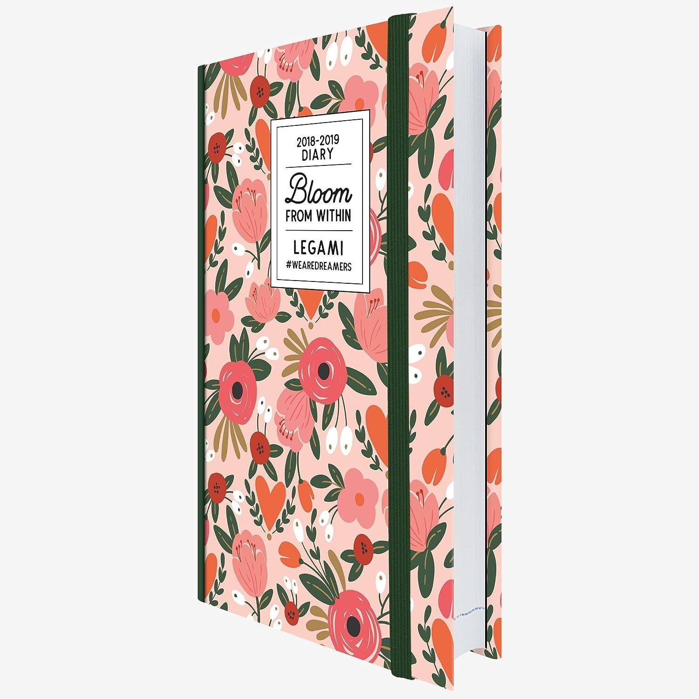 Legami AG160393 - Agenda foto 16 meses diaria mediana 2018/2019, color flores