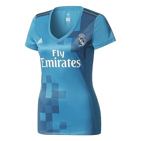 Adidas Real Madrid Camiseta de Equipación, Mujer, Azul (azuint/gripur / Blanco