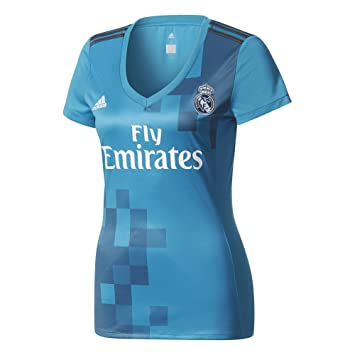 Adidas Real Madrid Camiseta de Equipación, Mujer, Azul (azuint/gripur / Blanco), 2XS: Amazon.es: Deportes y aire libre