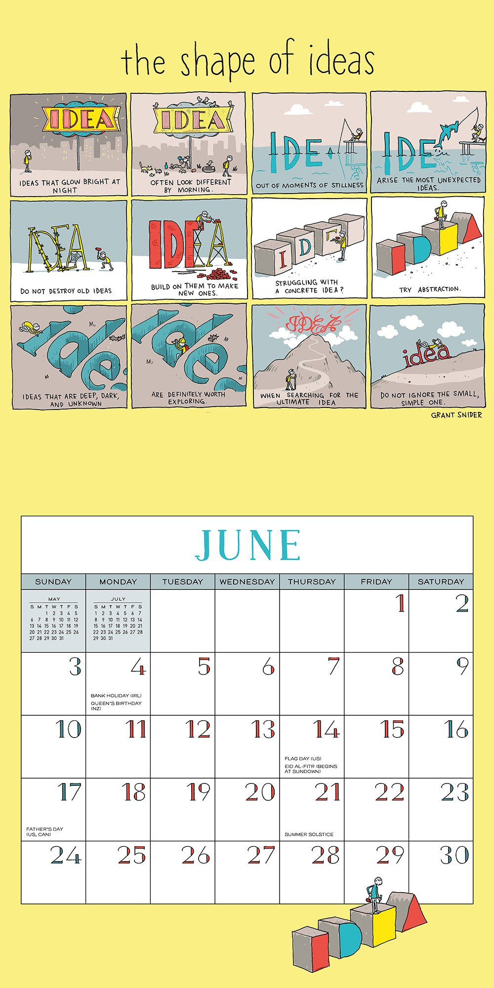 Shape of Ideas 2018 Wall Calendar: A Year of Thinking Outside the ...