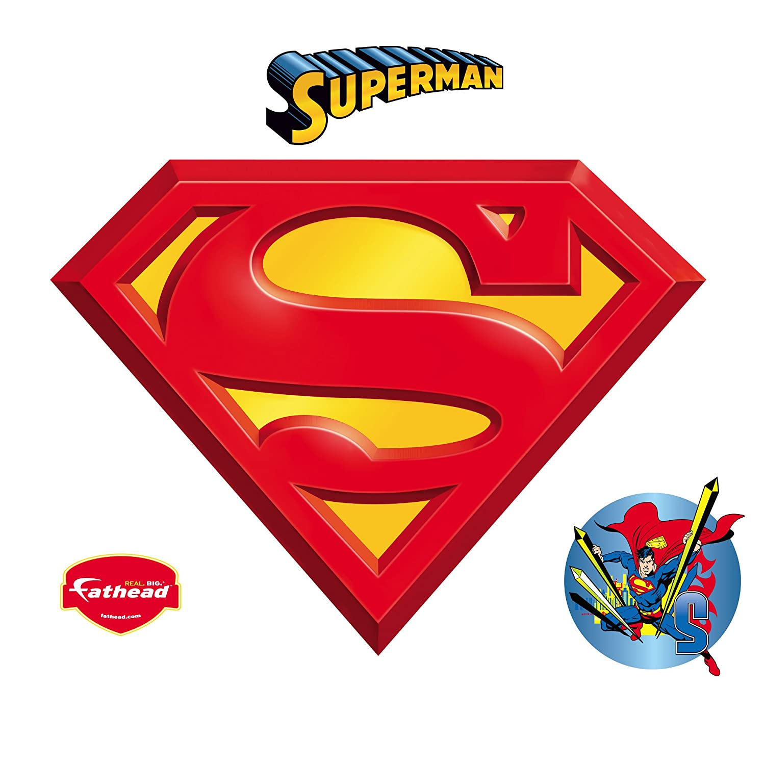 Amazoncom Fathead Superman Logo Wall Decal Home Kitchen