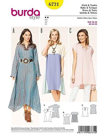 Burda Schnittmuster Kleid 6731 Schnittmuster und Tunika, weiß ...