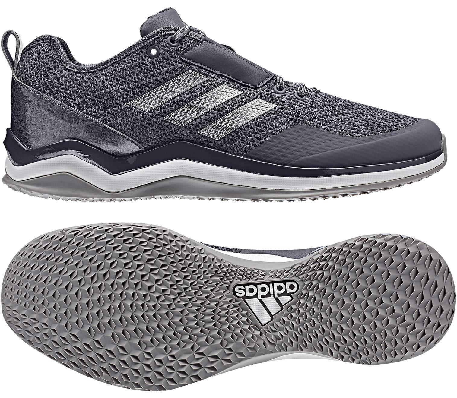 sale retailer 09b34 4cf75 Galleon - Adidas Men s Speed Trainer 3, Onix Metallic Silver White, (9.5 M  US)