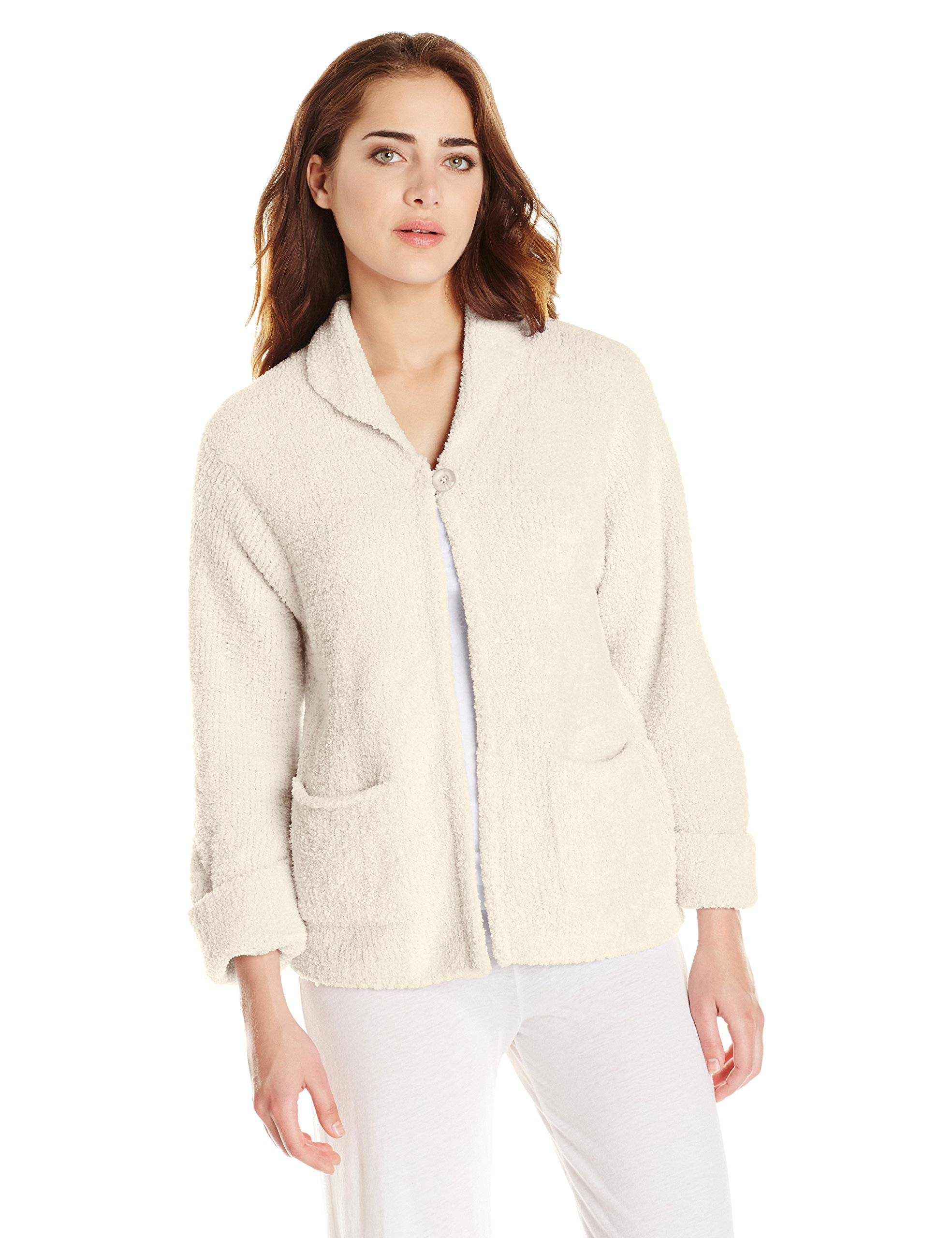 Casual Moments Women's Bed Jacket, Cream, Medium