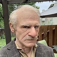 Oude Man Kostuum Cosplay Masker,Realistisch Oude Man Gerimpeld Eng Latex Masker,Halloween Maskerade Cosplay Partij