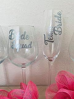 Bride Tribe Pink Champagne Flutes