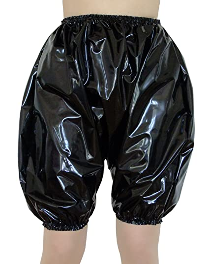 Shiny Black Heavy Pvc Pants Panties Knickers Bloomers Size
