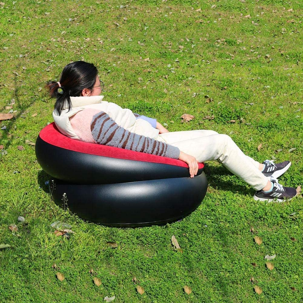 TOMMY LAMBERT Tumbona Inflable, sofá Individual Inflable, Asiento ...