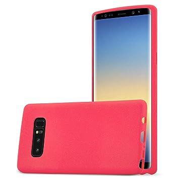 Cadorabo Funda para Samsung Galaxy Note 8 en Frost Rojo - Cubierta Proteccíon de Silicona TPU Delgada e Flexible con Antichoque - Gel Case Cover ...