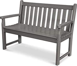 product image for POLYWOOD Traditional Garden Bench, Slate Grey