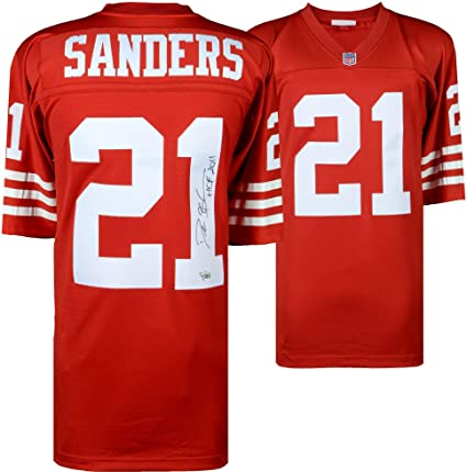 1714f8838 Image Unavailable. Image not available for. Color  Deion Sanders San  Francisco 49ers Autographed Mitchell   Ness ...