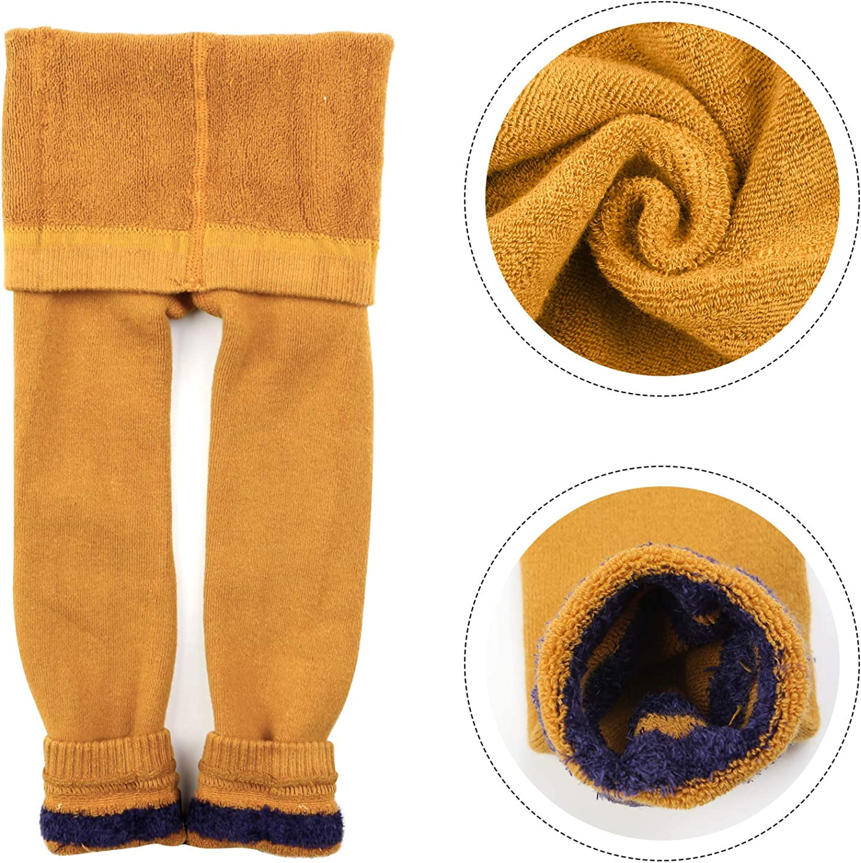 BOOPH Girls Fleece Lined Legging Winter Warm Velvet Pants Tights for Girls