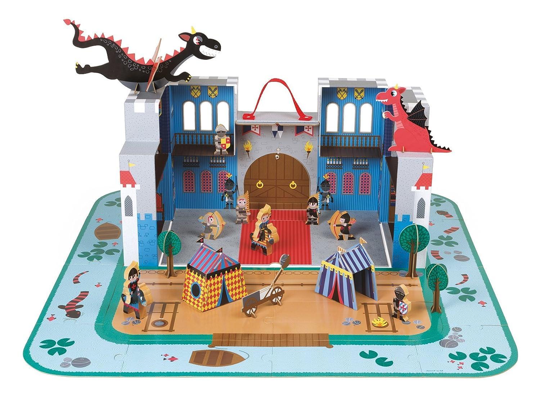 Ritterburg aus Pappe Bestseller - Janod Ritter Spielset im Koffer