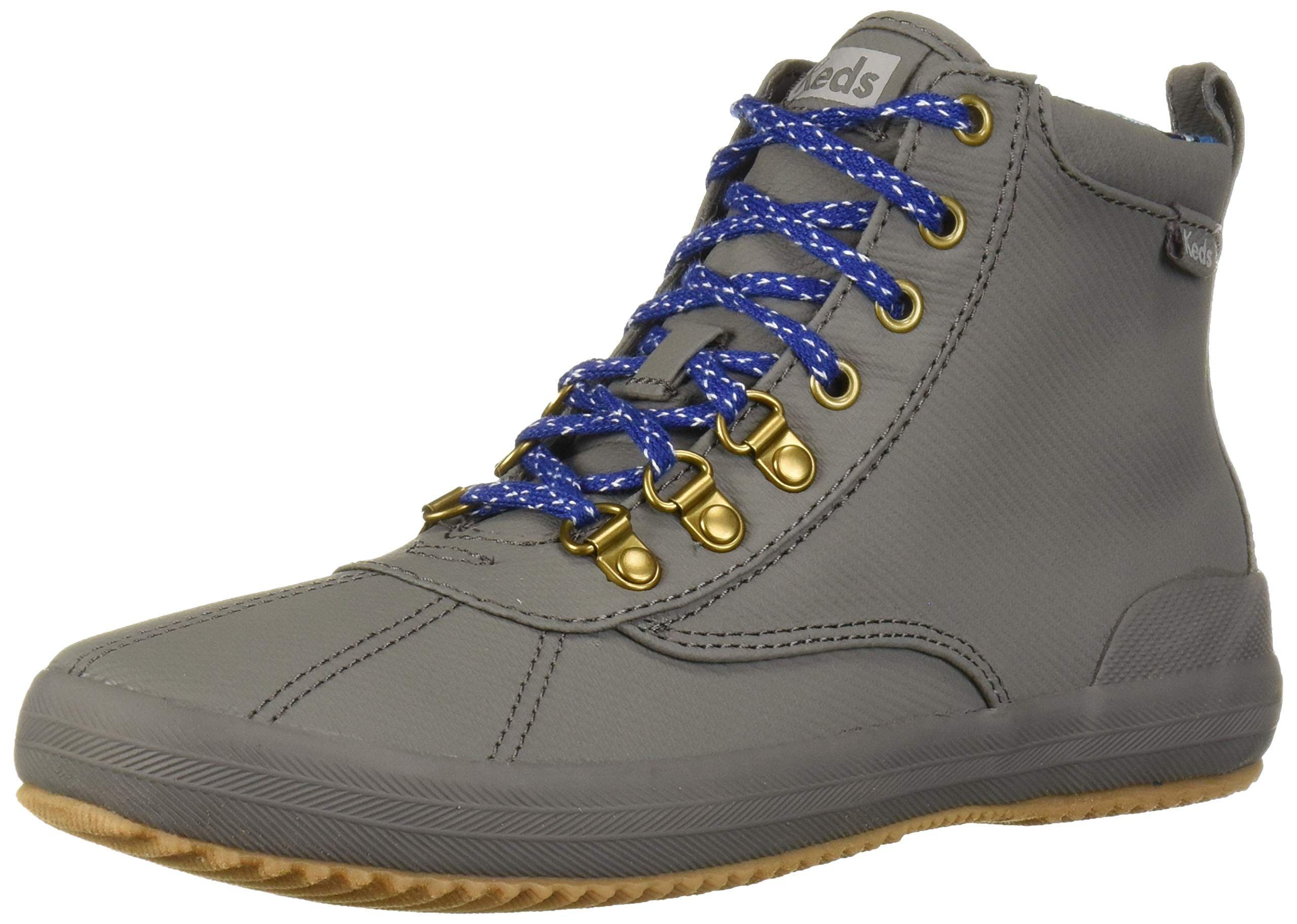 Keds Women's Scout Boot II Matte Twill Wx Rain, Gray, 10 Medium US by Keds