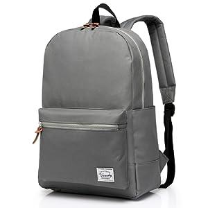 Vaschy School Backpack, Vaschy Unisexe Classique poids léger résistant à l'eau College sac à dos sac à dos pour ordinateur portable de 14 pouces