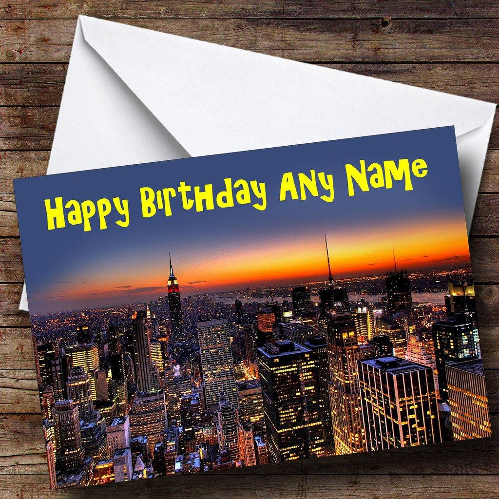 Tarjeta de felicitación de cumpleaños, diseño de horizonte de ...