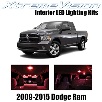 Xtremevision Interior LED for Dodge Ram 2009-2015 (6 Pieces) Red Interior LED Kit + Installation Tool: Automotive