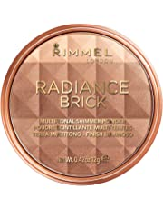 Rimmel London Radiance Shimmer Brick Pressed Bronzer, Light-As-Air Contouring Formula for Luscious Look, 001 Light, 12 g