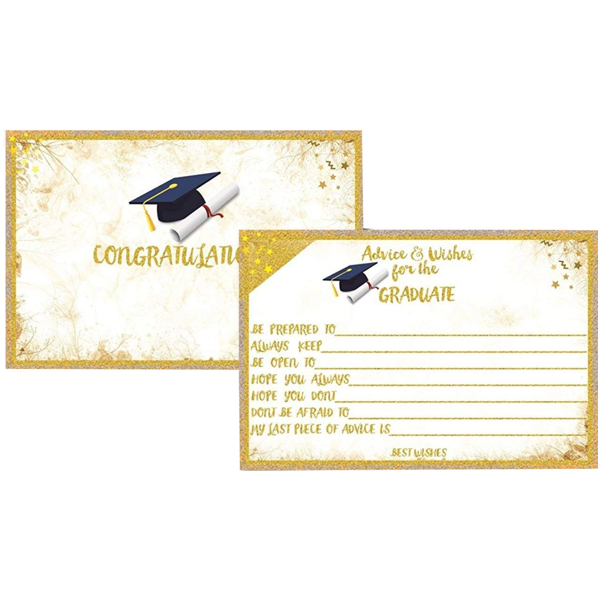 Graduation Cards   L&P Designs   Graduation Well Wishes and Advice Cards Graduation Well Wishes and Advice Cards, Printed on Matte and Gloss 50ct