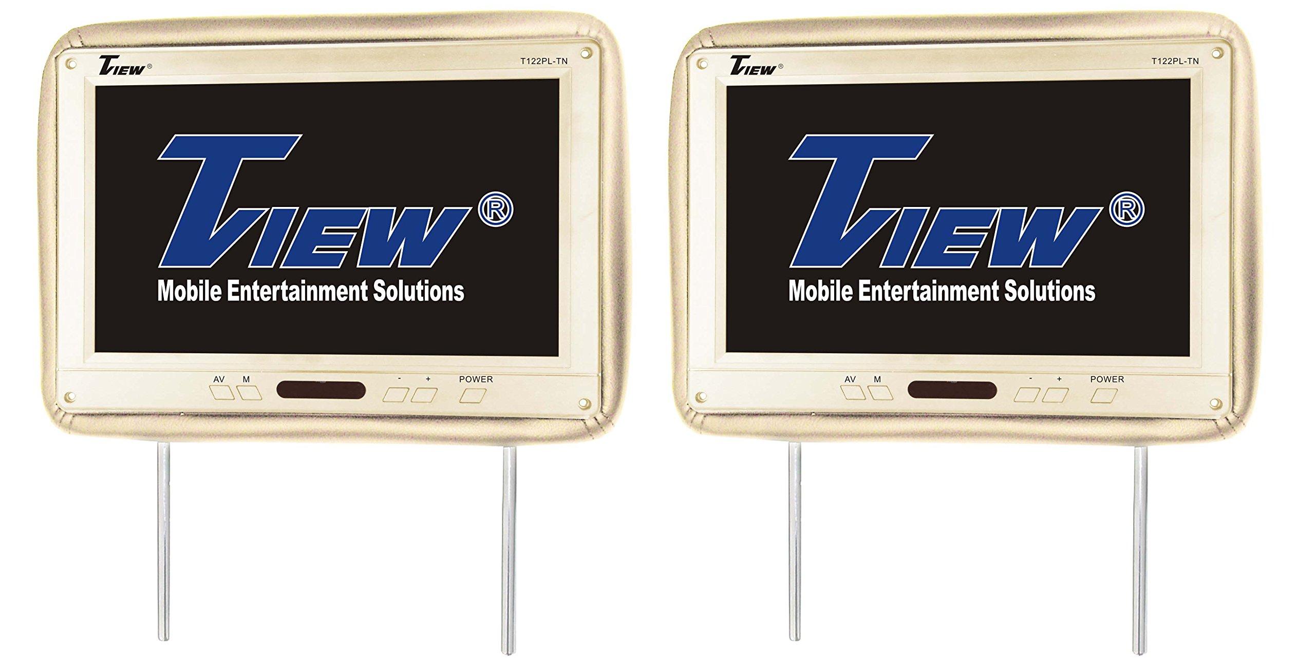Tview T122PL-TN Car Headrest Monitor, Tan