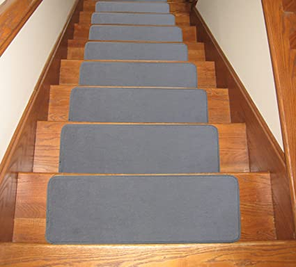 Soloom Stair Treads Carpet Non Slip Set Of 13 Indoor Skid Resistant  Polyester Stair Tread Rugs