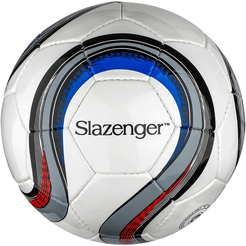 Slazenger - Balón de fútbol modelo Campeones (22 cm/Blanco/Gris ...