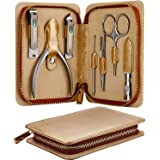 Manicure Set, Pedicure Sets, Nail Clipper Sets, Stainless Steel Professional Nail Cutter Kits with Travel Case