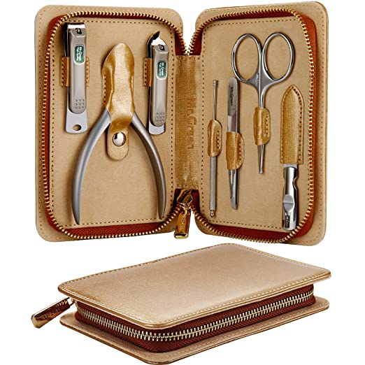 MR.GREEN Manicure Set, Pedicure Sets, Nail Clipper Sets, Stainless Steel Professional Nail Cutter Kits with Travel Case