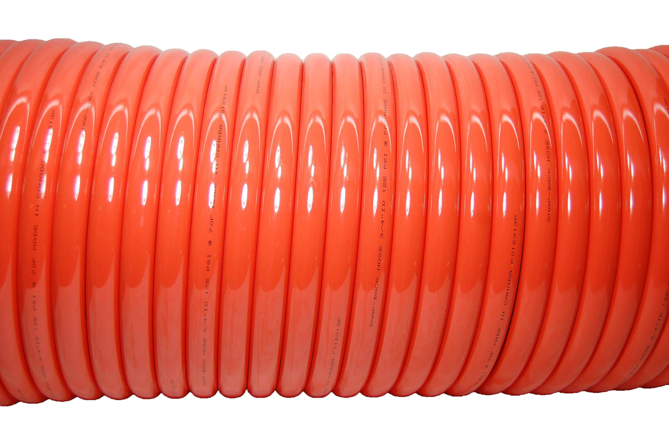 Plastair Industrial SBH9100-91-6-U Copolymer Snapback Recoil Air Hose, 100' Length, 0.875'' Coil OD, 185 PSI Maximum Pressure, 0.75'' Coil ID
