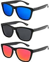 3er Set oder einzeln X-CRUZE® Nerd Sonnenbrille polarisiert Retro Vintage Style Stil Unisex Brille X0