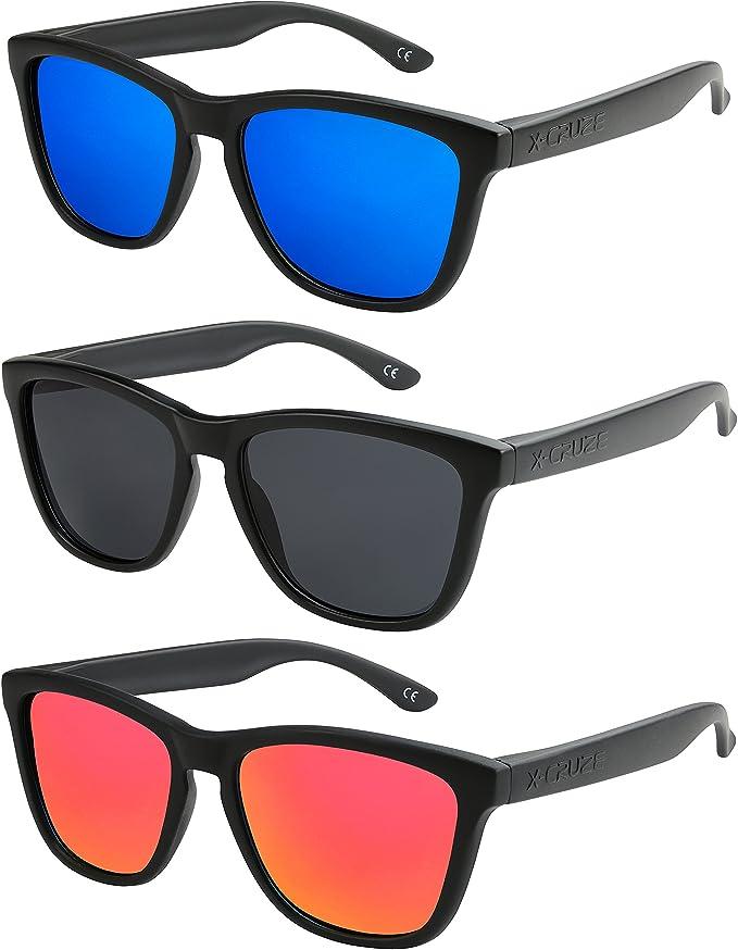 2er Pack X-CRUZE® Fahrrad Sonnenbrille Brille Männer Frauen Herren schwarz rot