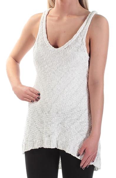 442039751d87de Free People Womens Chevron Pattern Hi-Low Tank Top Sweater Ivory XS at  Amazon Women s Clothing store