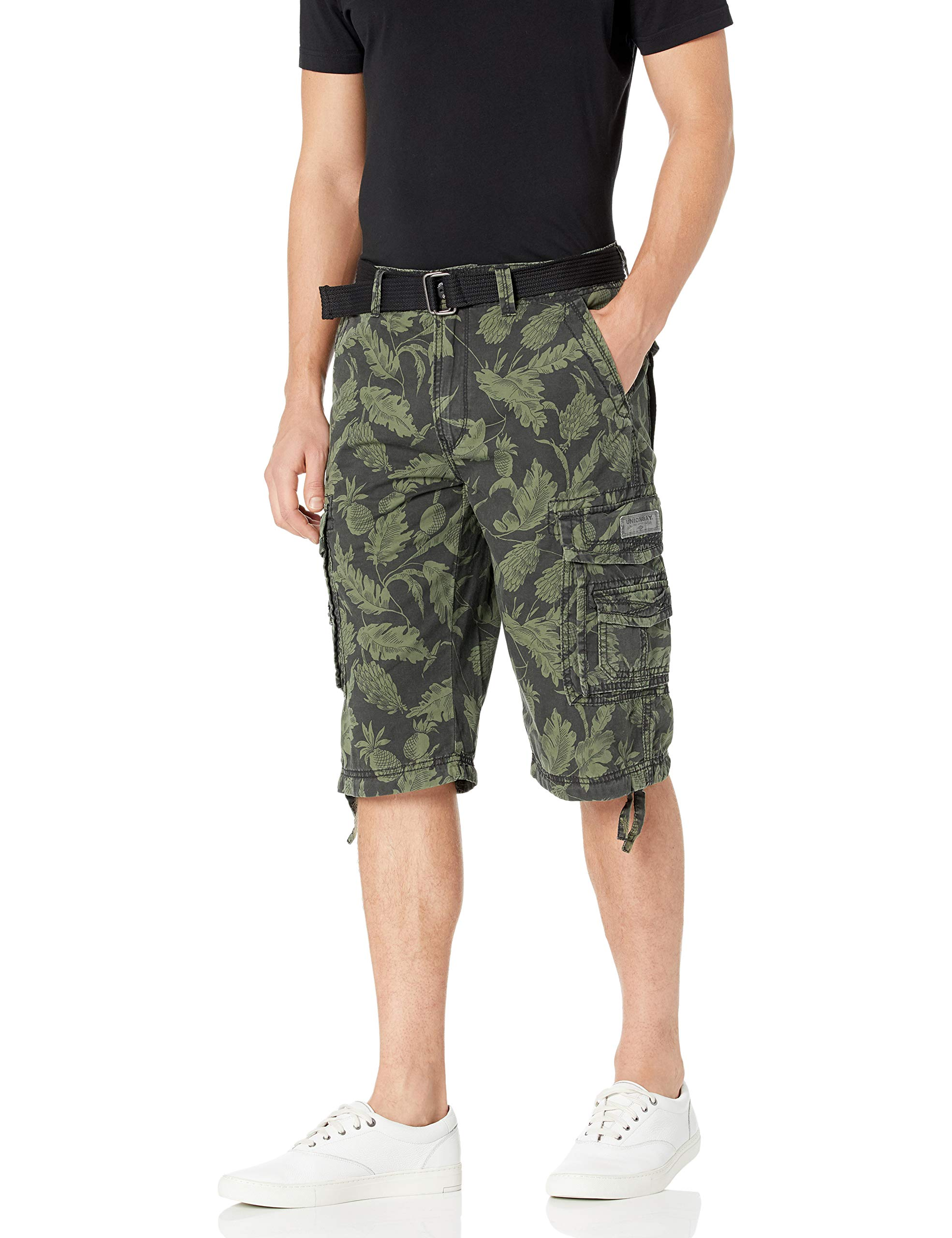Unionbay Men's Cordova Belted Messenger Cargo Short – Reg and Big and Tall Sizes