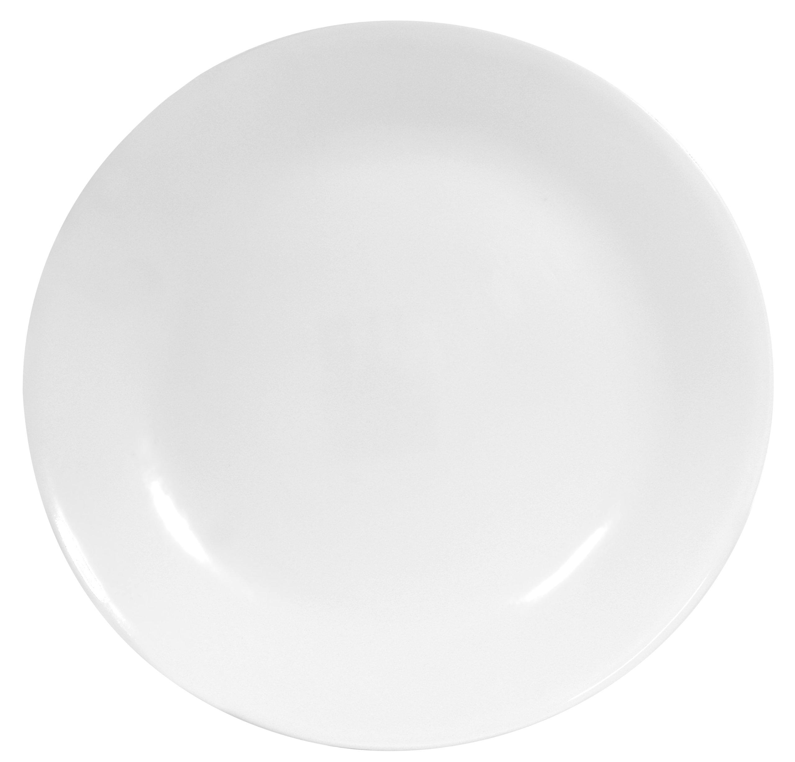 Corelle 1107731  Livingware 6-Piece Dinner Plate Set, Winter Frost White by Corelle
