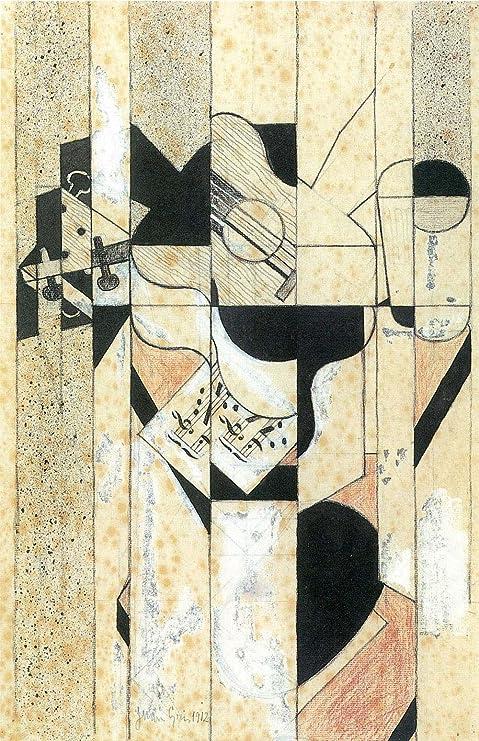 El Museo de salida - guitarra y frutero [1] por Juan Gris - lienzo ...