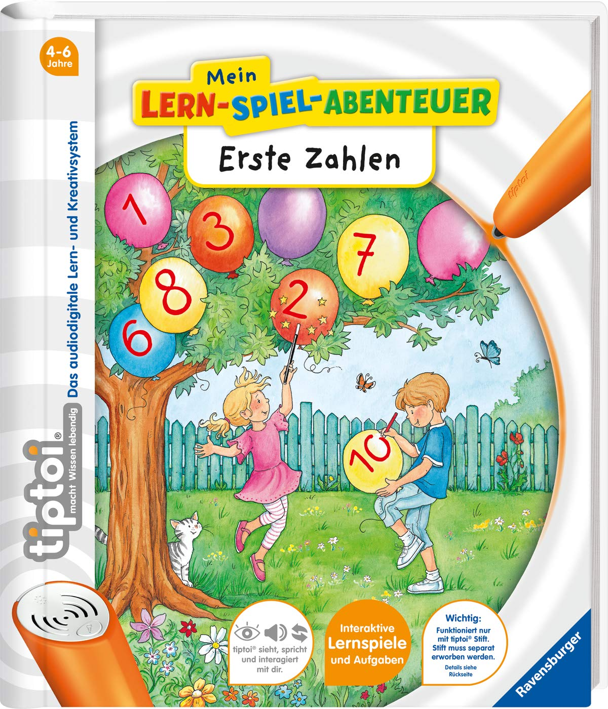Ravensburger Tiptoi 00803 Starter-Set Stift Und Buch Erste Zahlen