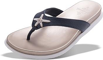 d9323c288a980 Amanda Blu Enameled Starfish Flip-Flop Sandal