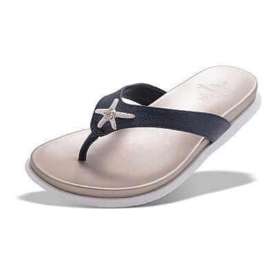 Enameled Starfish Flip-Flop Sandal