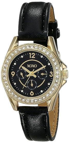 XOXO XO3406 - Reloj de pulsera Mujer, color Negro