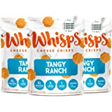 Whisps Tangy Ranch Cheddar Cheese Crisps | Keto Snack, Gluten Free, Sugar Free, Low Carb, High Protein | 2.12oz (3 Pack)