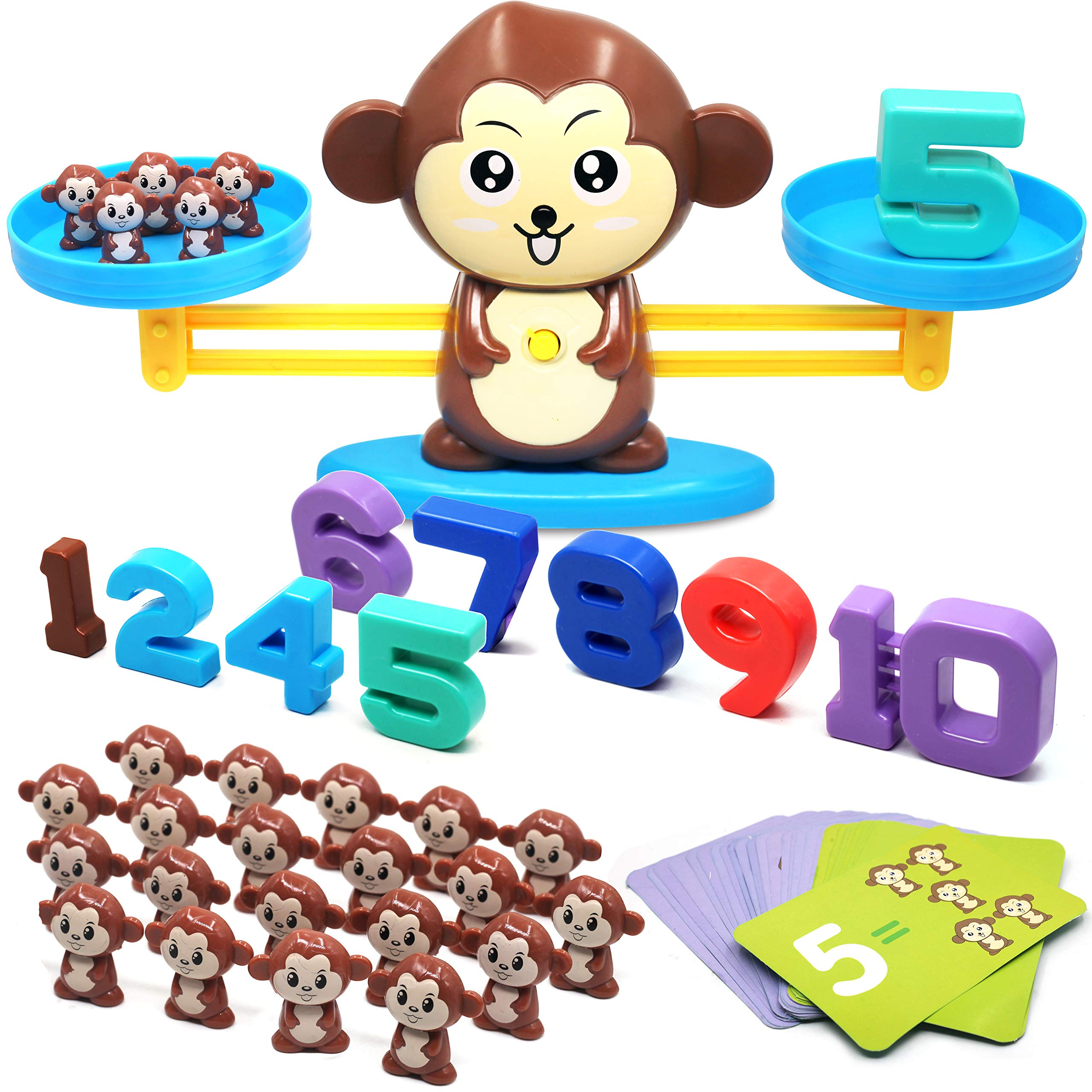Balance Math Game Counting Toy - Monkey Balance Cool Math Game for Girls & Boys | Fun, Educational Children's Gift & Kids Toy STEM Learning Ages 3+ by For Ideahome